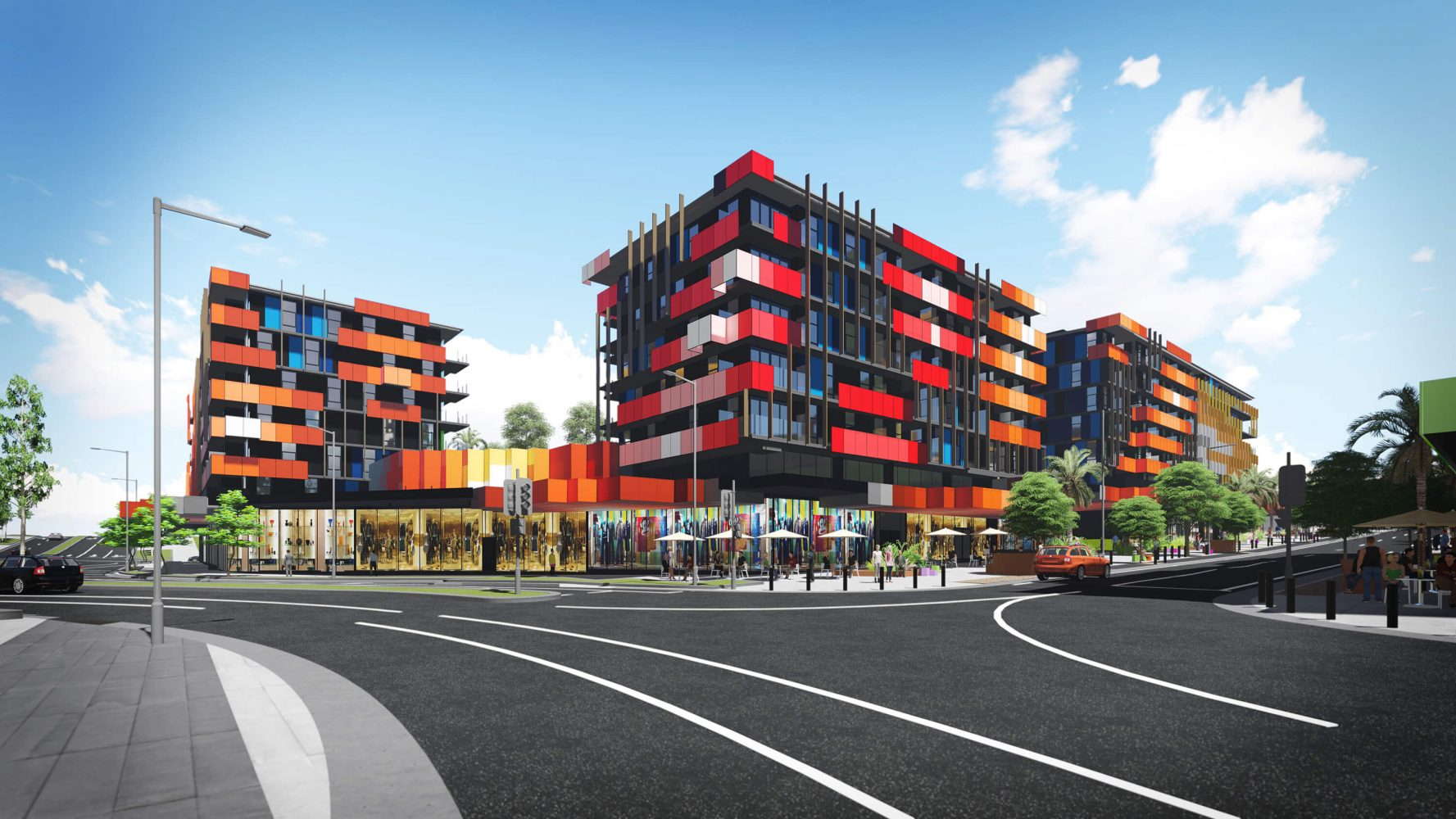 This Grocon masterplanned development initially to house the athletes of the Commonwealth Games 2018 on the Gold Coast features 1,252 dwellings with a mix of apartments and townhouses, a  retail precinct, green and landscaped spaces built around a 'Village Heart'.
